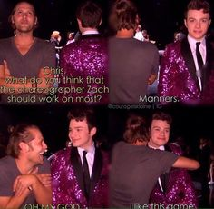 One of the best behind the scenes @ZachWoodlee @chriscolfer