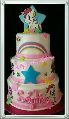 Pokidoki Theme Birthday Cake