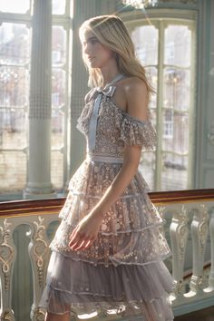 There's No Shortage of Feminine Detailing in This Needle and Thread Collection – Kleidung Estilo Girlie, Pretty Dresses, Beautiful Dresses, Fancy Dress, Dress Up, Dress Outfits, Fashion Dresses, Fashion 2018, Evening Dresses
