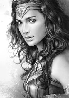 It& just too beautiful Wonder Woman Wonder Woman Kunst, Wonder Woman Drawing, Wonder Woman Art, Gal Gadot Wonder Woman, Wonder Women, Portrait Sketches, Pencil Portrait, Portrait Art, Portrait Tattoos