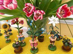 Blumenkinder - Flower Children Wooden Figurines from Germany