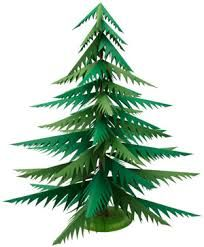 Image result for paper christmas tree