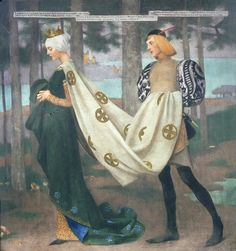 "Marianne Stokes (Austrian, 1855-1927), ""The Queen and the Page"" (1896) by sofi01, via Flickr"