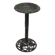 Oakland Living Vineyard Birdbath - Outdoor, Multicolor