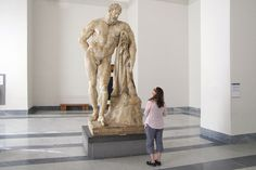 The Farnese Hercules is another highly admired and copied piece in the family's antiquities collection.  As with the rest of the Farnese Collection, it moved to Naples  in the 1700's, after Elizabeth Farnese's son Charles became King of the Two Sicilies.