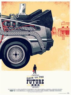 """Back to the Future III"" poster by Phantom City Creative, released by Mondo Gallery."