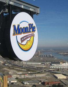 Mobile Alabama New Year's Eve - they drop a giant moon pie downtown!