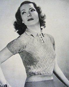 INSTANT PDF PATTERN 1930s Vintage Knitting by vintagepatterncopies, $3.00
