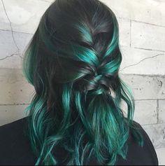 Pulp Riot Absinthe green hair dye color punk by NativeBohemian