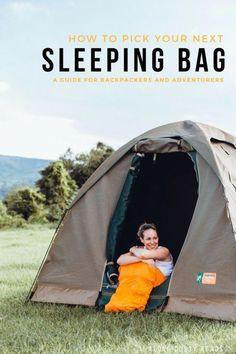 A good travel sleeping bag is a sensible investment for the serious traveller. However, not all sleeping bags are created equal - find out exactly what you should be looking for when picking the best sleeping bag for your next adventure. Luxury Camping Tents, Tent Camping, Camping Gear, Outdoor Camping, Camping Jokes, Camping Cabins, Backpacking List, Backpacking Sleeping Bag, Best Sleeping Bag