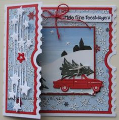 3d Cards, Holiday Cards, Christmas Cards, Merry Christmas, Ticket Card, Marianne Design, Studio Lighting, Winter Cards, Scrapbook Cards