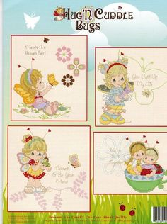 Designs by Gloria and Pat PM81 Wiggles And Giggles - Precious Moments Cross Stitch. Wiggles and Giggles includes 13 patterns. To convert to crochet graphs.