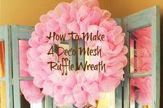 Miss Kopy Kat: How To Make A Deco Mesh Ruffle Wreath