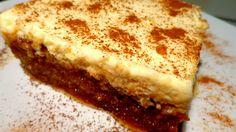 Πολίτικο γλυκό με μαστίχα & κρέμα. Θεικό !!!! ~ ΜΑΓΕΙΡΙΚΗ ΚΑΙ ΣΥΝΤΑΓΕΣ Greek Sweets, Greek Desserts, Party Desserts, Greek Recipes, Dessert Recipes, Turkish Sweets, Sweets Cake, Cupcake Cakes, Cupcakes