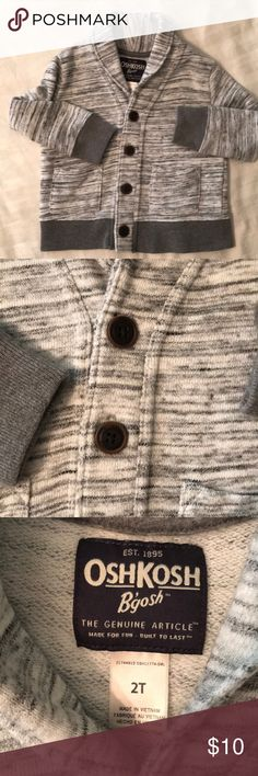 Gray Cardigan Sweater for Boy 2T Adorable sweater/cardigan for a boy size 2T from Osh Kosh Bgosh. Excellent used condition. OshKosh B'gosh Shirts & Tops Sweaters