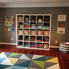 Finally finished our #playroom #gallerywall this morning! I'm so excited to finally check this one off my list. And a certain four-year old is beyond thrilled to see her #artwork framed and on our wall. ❤️ . . . #kidsroom #kidsroomdecor #interiorinspo #design #style #interior #home #decorideas #decor #kids #homedecorjunior #walldecor #myflor #thelandofnod #ikeausa #wallart #art #artwork