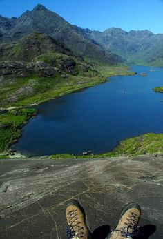 Looking down on Loch Coruisk earlier today. A simply stunning day on Skye!