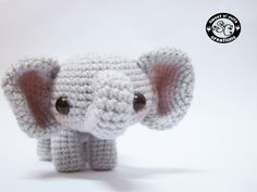 Meet li'l Sadie the Elephant. This little ami took me a long time to make!   **her ears and cheeks are tinted pink via some blush one**   **trunk is bent through some telephone wire bent by my dad**  so what do you think of her?  please also like my fb page :D fb.com/...