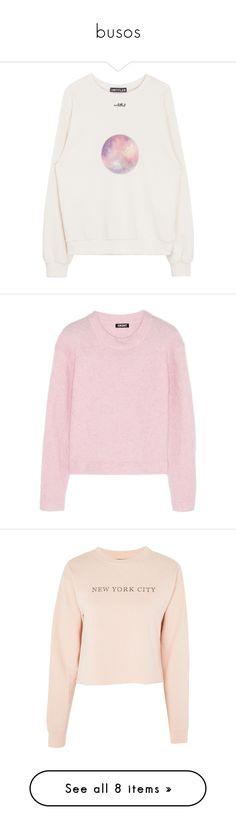 """busos"" by tinatorresm on Polyvore featuring tops, hoodies, sweatshirts, white top, white sweatshirt, bunny sweatshirt, bunny top, sweaters, pink y clothing - ls tops"