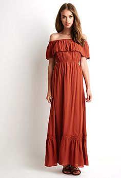 #goal  Off-the-Shoulder Maxi Dress | Forever 21 - 2000078424