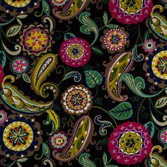 Passion Black Merrimack Madden Home Decor Fabric