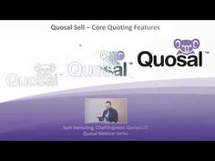 Core Features of Quosal Sell