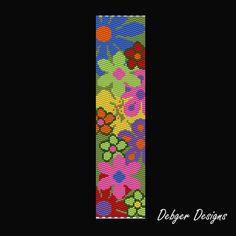 Giardino di fiore 2 modello di bracciale di FUNPATTERNDESIGNS