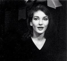 Maria Callas backstage before her performance as Anna Bolena