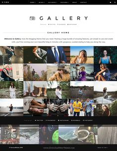 Gallery is truly multipurpose, robust & elegant #Blogging #WordPress #photography #Theme. Download Now!