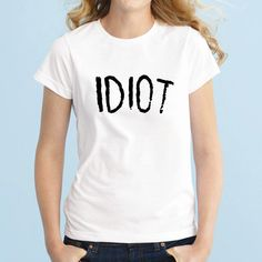 Idiot Tshirt 5sos Band Tshirt Michael Clifford 5 Seconds of Summer... ($15) ❤ liked on Polyvore featuring tops, t-shirts, black, women's clothing, long sleeve tops, loose t shirt, slim fit t shirts, long sleeve t shirts and collared shirt