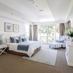 How lovely is this master bedroom? Sharing some recent property styling work we completed ~ the home has now listed and is for sale!