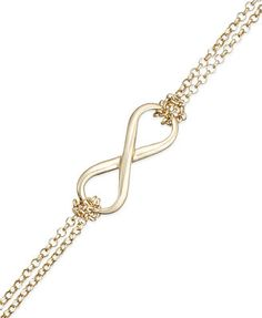 Giani Bernini Infinity Double Chain Bracelet in 24k Gold over Sterling Silver