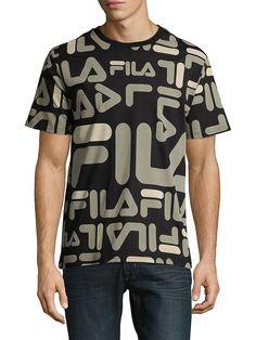FILA LOGAN COTTON TEE. #fila #cloth # Fila Outfit, Bold Logo, Tee Shirts, Tees, Sport Wear, Cotton Tee, Fashion Prints, Logan, Boy Outfits