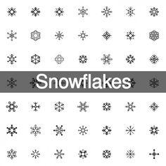200 snowflakes icon shapes