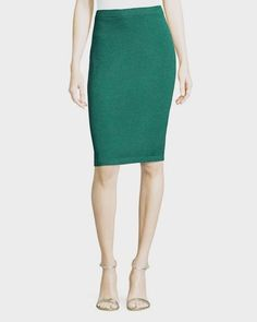 2c28e0d76651 New st john by marie gray 06 small santana knit skirt straight emerald green
