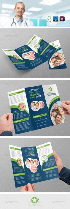 Dentist Tri-Fold Templates  —  PSD Template
