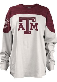 Texas A&M Aggies Womens Cannondale Maroon LS Tee