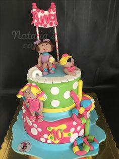 Pool party birthday cake!
