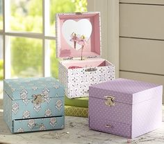 I love the Sadie Jewelry Boxes on potterybarnkids.com