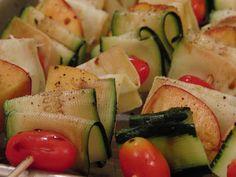 Veggie Skewers with Ribbon Zucchini