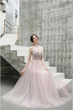 A Line Floor Length Spaghetti Straps Tulle Prom Dress With Beads Lace Prom Gown, V Neck Wedding Dress, Lace Dress, Wedding Dresses, Cheap Prom Dresses, Sexy Dresses, Dresses With Sleeves, Make Your Own Dress, Bleu Royal