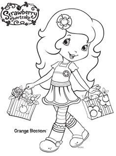 Strawberry Shortcake Orange Blossom coloring page from Strawberry Shortcake category. Select from 31983 printable crafts of cartoons, nature, animals, Bible and many more. Coloring Pages For Girls, Coloring Book Pages, Coloring For Kids, Coloring Sheets, Strawberry Shortcake Coloring Pages, Strawberry Shortcake Birthday, Christmas Coloring Pages, Free Printable Coloring Pages, Digi Stamps