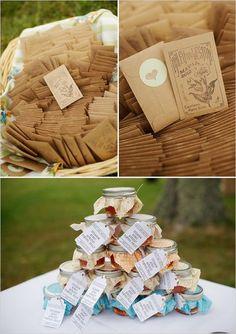 rustic wedding favors / http://www.deerpearlflowers.com/rustic-country-kraft-paper-wedding-ideas/2/