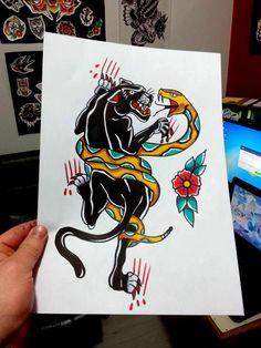 Design old school battle panther snak by Lucas Nascimento