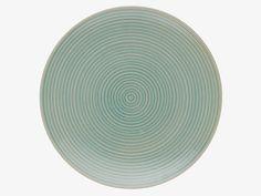 DUNAS Aqua blue reactive glaze dinner plate D28cm