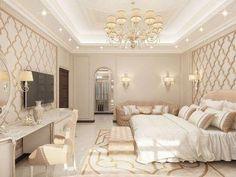 Modern Arabic Bedroom Design Bedroom Design Luxury Interior Design Company in Dubai, Fit Out Luxury Bedroom Design, Master Bedroom Design, Rich Girl Bedroom, Trendy Bedroom, Bedroom Designs, Interior Design Companies, Best Interior Design, Luxury Interior, Interior Decorating