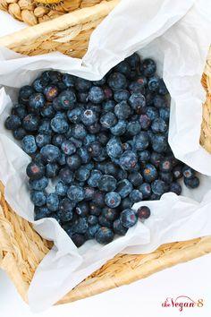 World's Best JUMBO Vanilla Blueberry/Chocolate Chip Muffins Ever ingredients, GF, Oil-Free! Gluten Free Blueberry Muffins, Vegan Muffins, Blue Berry Muffins, Vegan Treats, Vegan Desserts, Vegan Recipes, Gluten Free Baking, Vegan Gluten Free, Dairy Free
