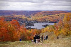 Fall colors in Mont tremblant