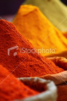 Traditional spices market Royalty Free Stock Photo