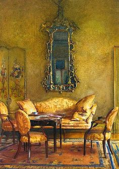 (̏◕◊◕)̋  this looks like art... a painting. Oh, wait, it is! =) Walter Gay, Elegant Interior,1914